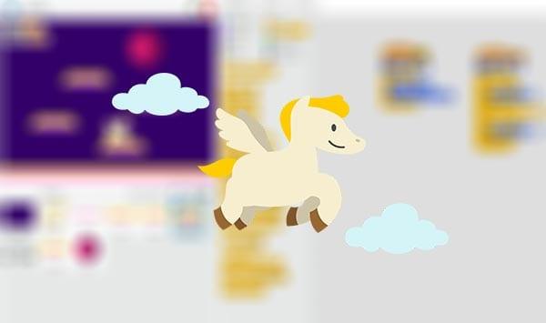 Programar juego pegaso en las plataformas Scratch