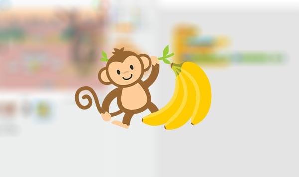 Tutorial videojuego mono y plátanos en Scratch