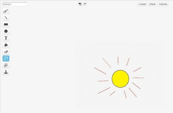 Editor de imágenes de Scratch
