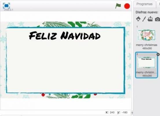 Programa Postales De Navidad.1 La Postal De Navidad En Scratch Scratch School