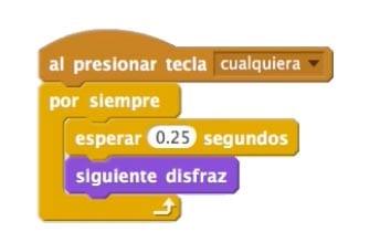 Cambio de disfraz pacman automático Scratch