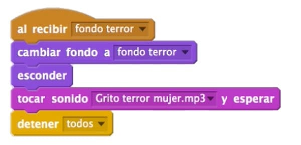 Acciones susto Scratch