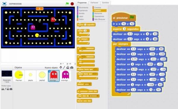 Pacman enemigos en Scratch