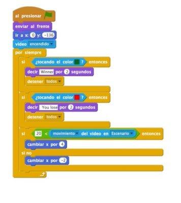 Programación webcam Scratch