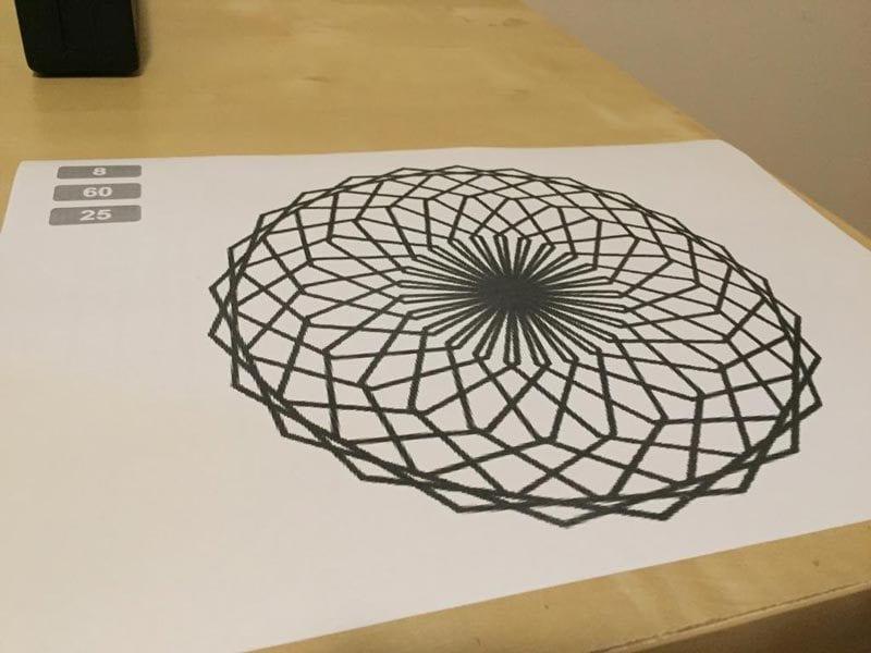 Mandala impresa en Scratch
