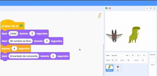 conversación en Scratch
