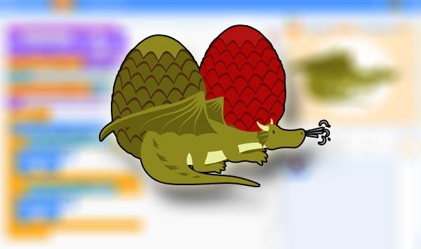 Curso huevos dragón Scratch