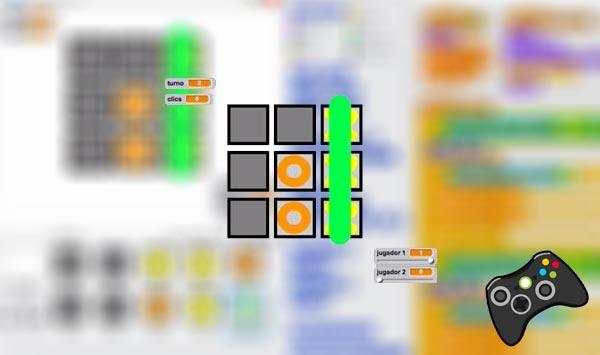 Juego tres en raya en Scratch